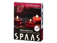 Spaas Čajové 24ks Blushing berries clearlight vonné svíčky