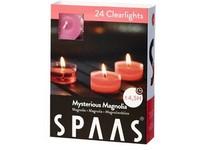 Spaas Čajové 24ks Mysterious magnolia clearlight vonné svíčky
