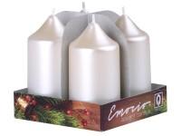 Emocio adventní válec 4ks 40x75 Perla bílé svíčky