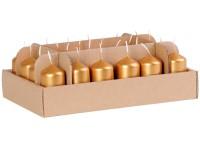 Válec 24ks 38x70 Metal zlaté svíčky