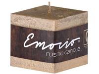 Emocio Rustic kostka 50mm zlatá svíčka