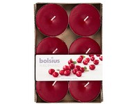 Bolsius Aromatic Čajové Maxi 6ks Wild Cranberry vonné svíčky