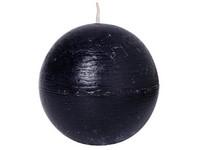 Emocio Rustic koule 80mm černá svíčka