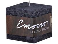 Emocio Rustic kostka 50mm černá svíčka