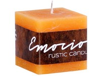 Emocio Rustic kostka 50mm Sv.hnědá svíčka