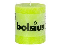 Bolsius Rustic Válec 68x80 limetkově zelená svíčka