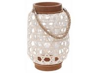 Lampa bambus 500x220 mm proplétaná se závěsem na svíčku