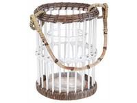 Lampa bambus 220x400 mm rovné proutí se závěsem na svíčku