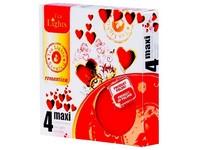 Čajové Maxi 4ks Romantica vonné svíčky