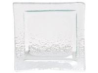 Svícen sklo 75 mm čtverec čirý