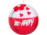 Koule 80mm Be Happy svíčka