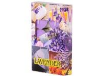 Čajové 6ks Lavender vonné lis. svíčky