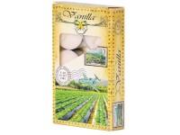 Čajové 6ks Vanilla vonné lis. svíčky