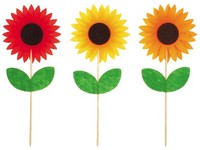 Zápich filc 85 mm Květina, mix