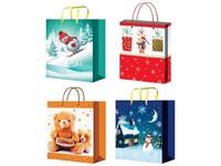 Taška dárková 320x260 mm Vánoční pro děti mix