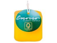 Emocio Classic kostka 50mm žlutá svíčka