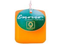 Emocio Classic kostka 50mm oranžová svíčka