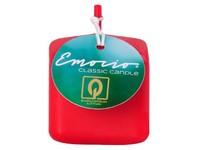 Emocio Classic kostka 50mm červená svíčka