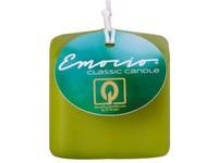 Emocio Classic kostka 50mm sv. olivová svíčka