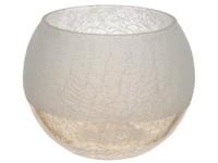 Svícen sklo 100 mm Praskaný na čajovou svíčku