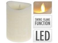 LED svíčka reálný plamen 100x150 mm sl. kost