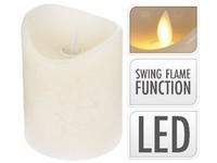 LED svíčka reálný plamen 75x100 mm sl. kost bez baterie