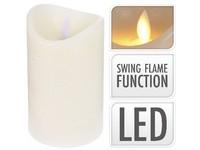 LED svíčka reálný plamen 75x125 mm sl. kost bez baterie