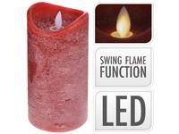 LED svíčka reálný plamen 75x150 mm červená