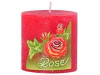 Růže Válec 50x50 vonná svíčka