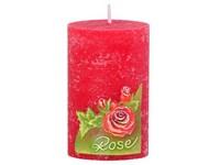 Růže Válec 50x80 vonná svíčka