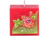 Růže Kostka 50mm vonná svíčka