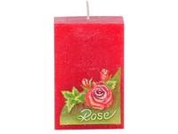 Růže Hranol 50x80 vonná svíčka