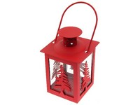 Lucerna kov 75x120 mm Stromek červená, černá mix