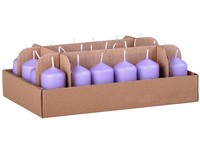 Válec 24ks 38x70 sv. fialová svíčka