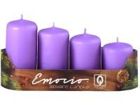 Emocio adventní stupně 4ks 40mm sv.fialové svíčky