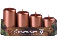 Emocio adventní stupně 4ks 40mm Metal měděné svíčky
