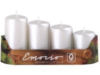 Emocio adventní stupně 4ks 40mm Perla bílé svíčky