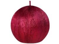 Drápaná koule 70mm Perla červená svíčka