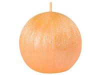 Drápaná koule 70mm Perla žlutá svíčka