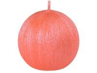 Drápaná koule 70mm Perla oranžová svíčka