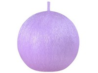 Drápaná koule 70mm Perla fialová svíčka