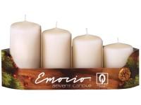 Emocio adventní stupně 4ks 40mm sl. kost svíčky
