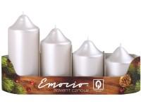 Emocio adventní stupně 4ks 50mm perla bílé svíčky