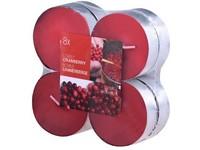Bolsius NR Čajové Maxi 8ks Lovely Cranberry vonné svíčky