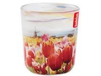 Bolsius sklo 73/80mm Stínohra Holanské tulipány vonná svíčka
