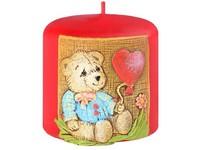 Medvídek 1. Válec 50x50 vonná svíčka