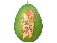 Vajíčka Vajíčko 60mm zelená svíčka