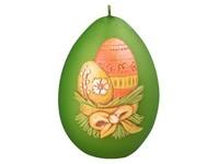 Vajíčka Vajíčko 80mm Metal Mat zelená svíčka