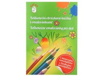 Velikonoční obrázková knížka s omalovánkami a samolepkami