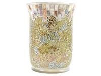 YC.Gold And Pearl Crackle/Svícen na sklo
